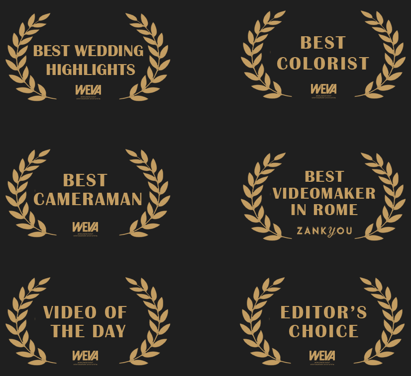 Best wedding highlights, best videomaker in Rome, best wedding videographer in Italy.