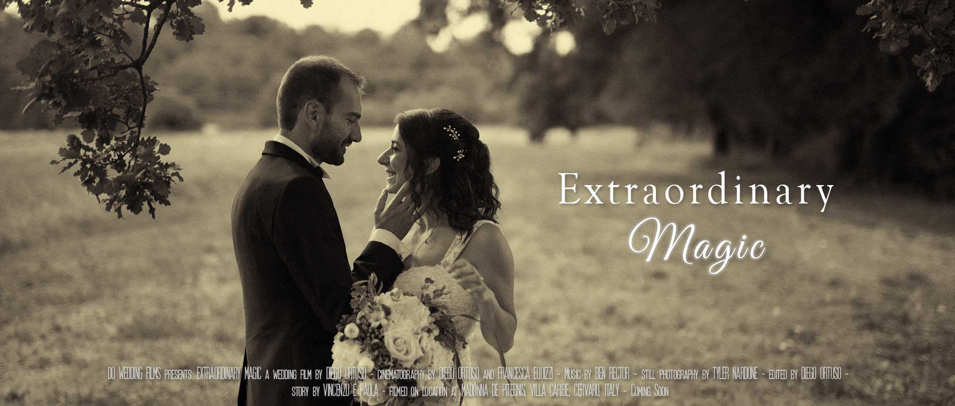 Extraordinary magic cover, a beautiful and romantic wedding video in Rome, Lazio.